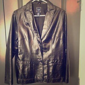 Gap black leather jacket. Like new!